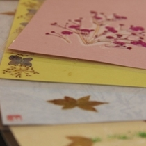 その他_お土産の押し花カード