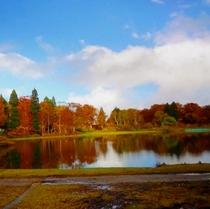 スタカ湖の紅葉