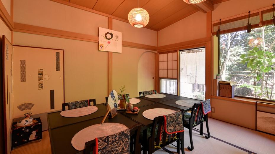 *お食事処/旅に彩りを添える食事−大山名物豆腐を活かした京風茶懐石料理をご堪能下さい。