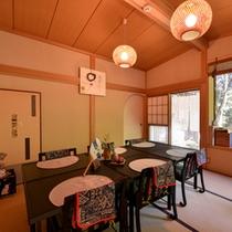 *お食事処/旅に彩りを添える食事-大山名物豆腐を活かした京風茶懐石料理をご堪能下さい。