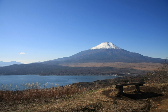 山中湖ハイキングで【絶景スポット】大自然満喫【1泊朝食付】