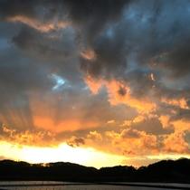 *うっとりする美しさの夕焼け