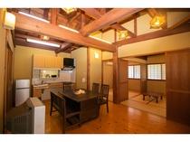 Aタイプ:和室6畳2間+居間(和室と居間、仕切りあり)★間取り例★