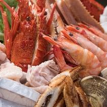 *【上寄せ鍋コース一例】贅沢!魚介の旨みがたまらない。具沢山お鍋をお腹いっぱいお召し上がり下さい。