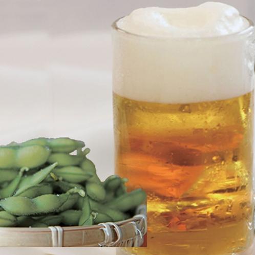 【羅漢】ほろ酔いセット 生ビール 枝豆