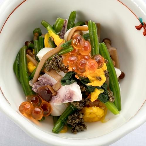 色鮮やかな前菜は、味だけでなく目でも楽しめます