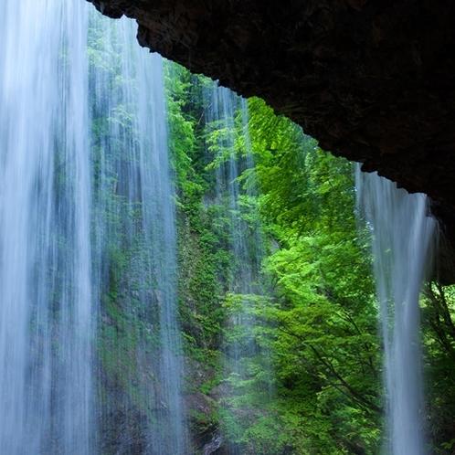 「初夏の雷滝」新緑の中、マイナスイオンで癒されてください
