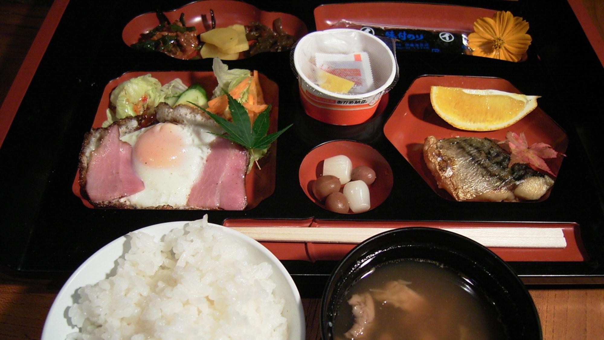 *朝食(一例)温泉宿ならではの和朝食をお楽しみください。