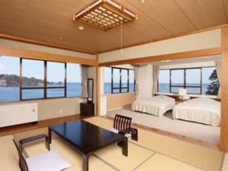 【禁煙】和洋特別室【和室10畳+ツイン/バス・トイレ付】