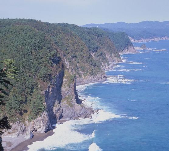 田野畑村の南の海岸 『鵜の巣断崖』