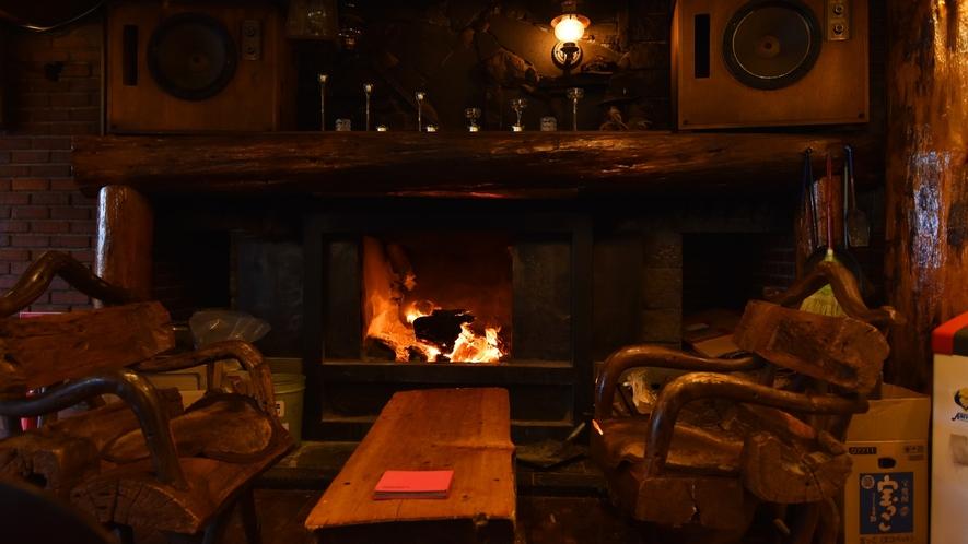 *【館内】暖炉 夜は気の合う仲間や家族と暖炉を囲み素敵な夜をお過ごし下さい