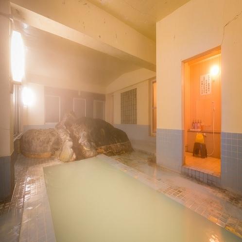 岩風呂 夜2
