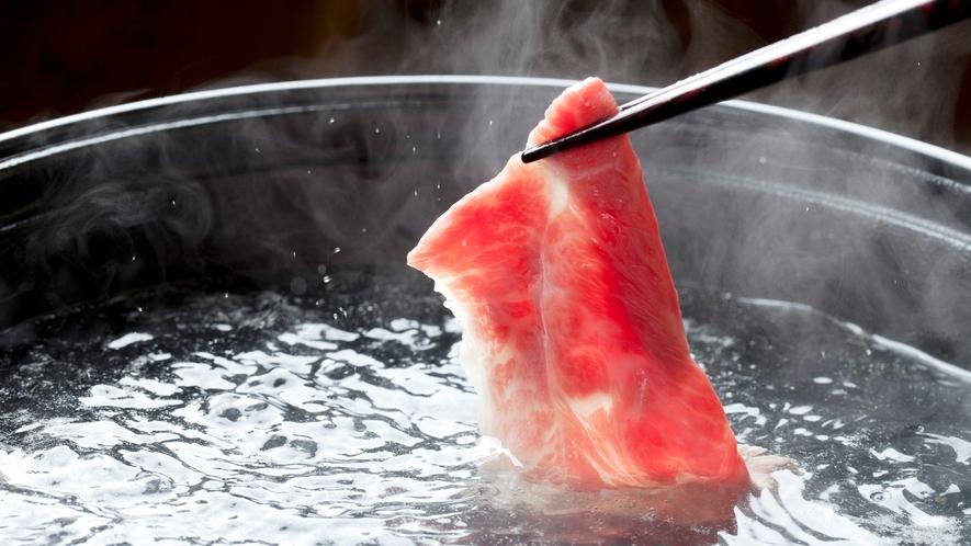**【神戸牛しゃぶしゃぶ(一例)】上質な神戸牛の味を存分にご堪能ください