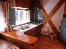 54. リビングと一体となったキッチンも開放的 【〜6名様:しゃくなげ11号館】