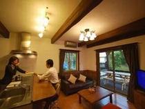 3. 【スウィートⅡ】(4名様用):出来立てをすぐに食べられる対面キッチンが特徴