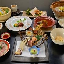 *【ある日の夕食】添加物を一切使わない自然食会席です。   ※お品書きは日々変わります