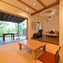 *【ゆずりは】60.96平米/明るい白木でまとめられたジャパニーズモダンの和洋室