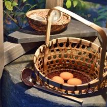 *【温泉玉子】敷地内で鶏を飼育しており、いつも採れたて新鮮な玉子をご用意しております。