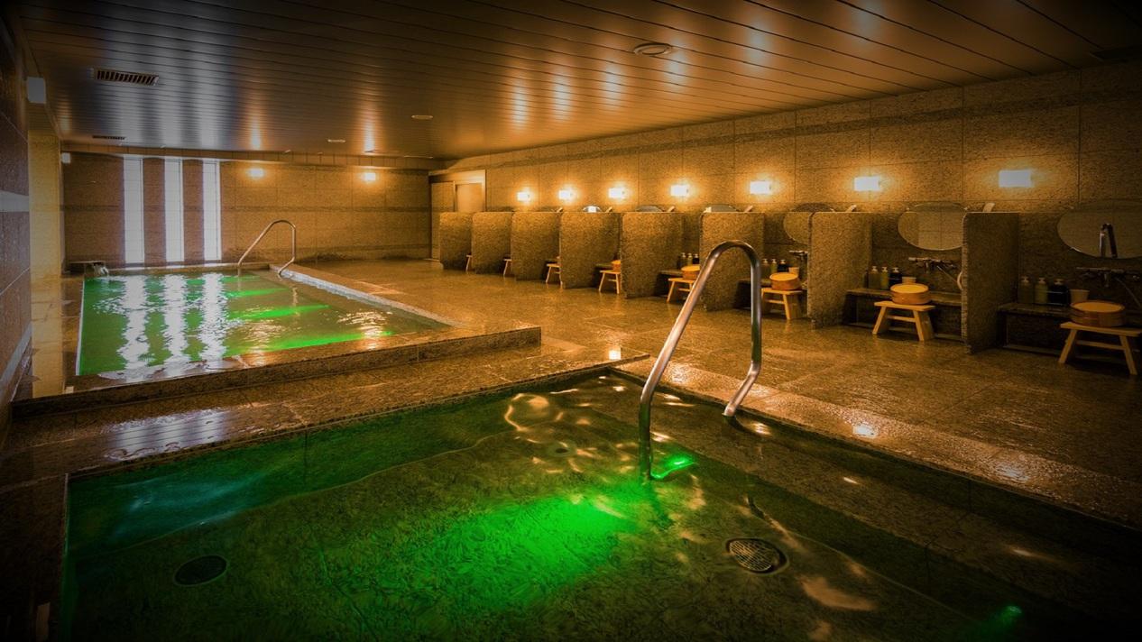 人工炭酸泉は低めの温度で長湯をお楽しみ頂けます。血行良化の効果がございます。