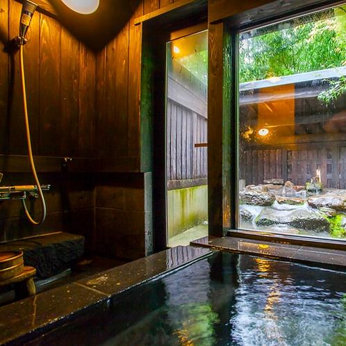 全室に、内湯・露天風呂が付いております