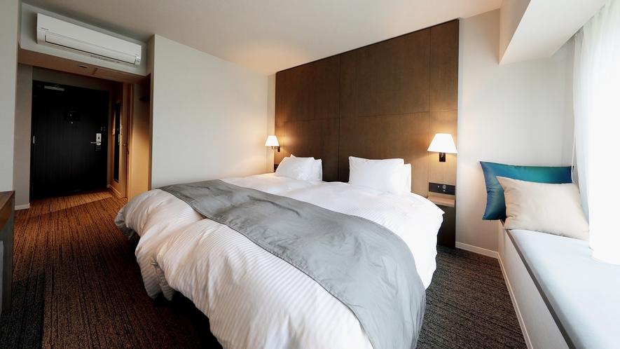 *ツイン/カジュアルな2名利用に最適。お部屋ごとに違うデザインとなっています。