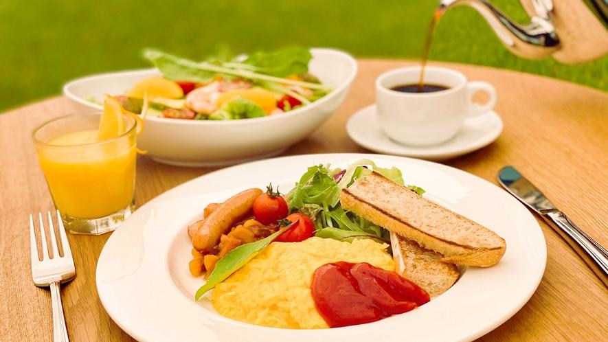 *朝食一例:アメリカンブレックファスト