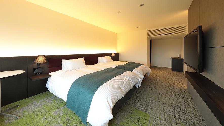 *グリーンスイート/リラックスできるアロマと特別仕様のカーペットで心地よい空間。
