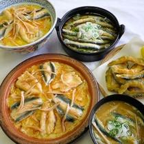 【どじょう料理一例】鰻に味・栄養価共にひけをとりません♪ぜひ一度ご賞味下さい。