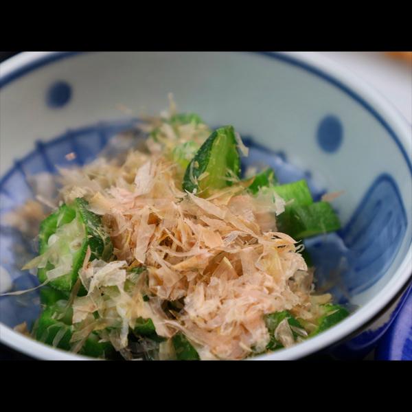 【朝食】本日の小鉢はオクラ