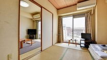 *客室一例/ファミリー、グループ旅行には、人数に合わせたお部屋をご用意します。