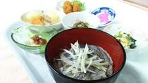 鯛のアラ汁の夕食