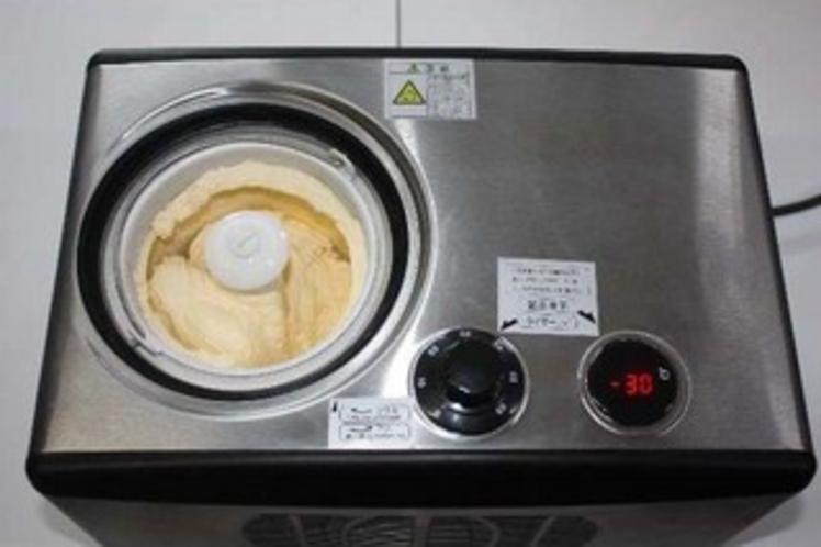 アイスクリームも手作りしています。