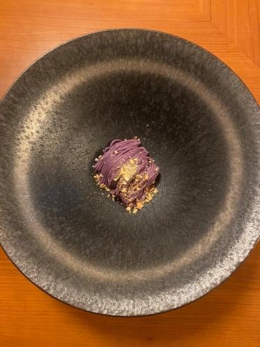 紫いものモンブラン