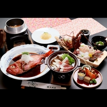 *伊豆-izu- セレクションコース<金目・舟盛・伊勢えび・猪すき焼き>