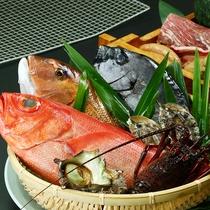 伊豆炙りでは伊豆近海の海の幸や厳選した山の幸をお出しします
