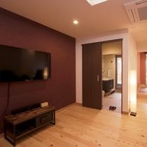 ≪総ひのき露天風呂付客室≫55インチテレビ/Blu-ray&DVDプレイヤー完備