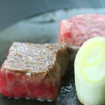 *黒毛和牛サーロイン富士山の熔岩プレート焼き [焼物一例]