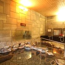 伊豆の岩風呂:男女入れ替り制の内湯です