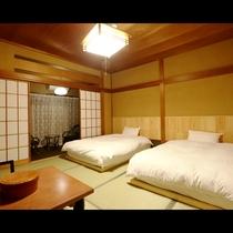 *和室10畳 ベッドルーム≪シモンズ製≫良質の寝具でゆったりとお休みください