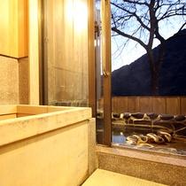 *露天風呂付和室:檜の内風呂と岩露天風呂付のお部屋※ご指定はできません