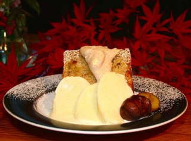 季節限定 栗のシフォンケーキ あっぴアイス