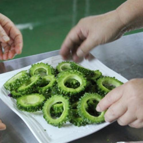 地元の野菜ゴーヤ