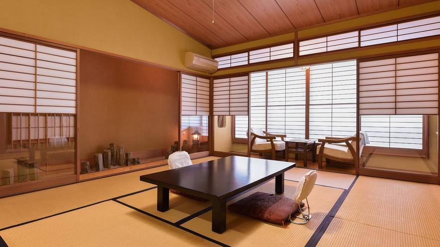 *【客室一例】ちどり(和室10畳)。広々とした風雅な空間をお楽しみください。