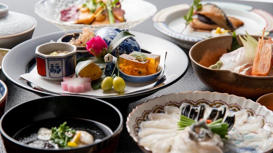 *【懐石料理】お造り・焼物など・・・9品程のお食事をご提供いたします。