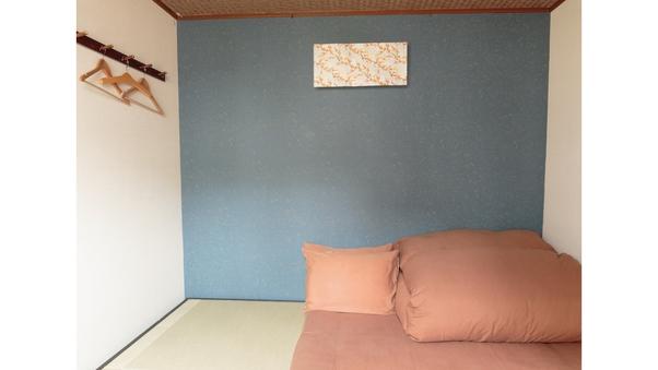 和風の個室(ダブルサイズの布団) 【バス・トイレ付き】 禁煙
