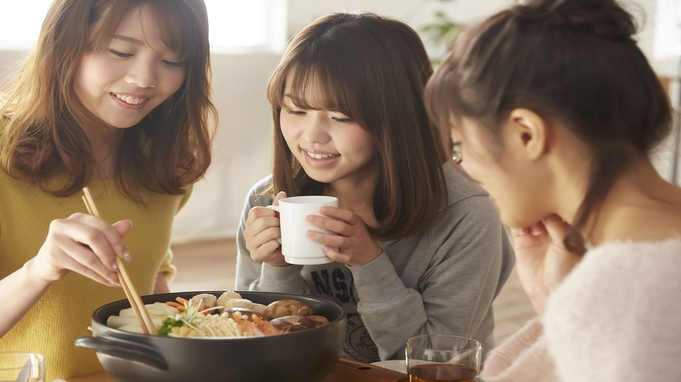 【三密回避旅行応援セール】1棟11,000円OFF☆夕食は料理長手作りの温ったか鍋♪<1泊2食付>