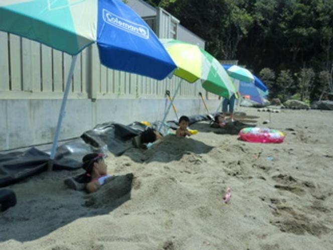 砂風呂体験