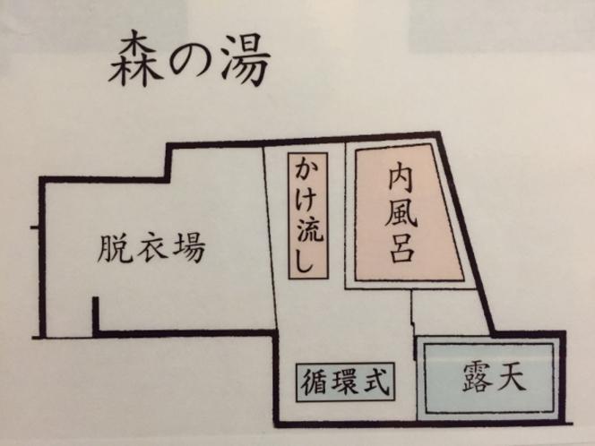 【森の湯】案内図