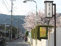【春の城下町】
