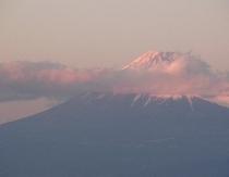 ペンションより。富士山